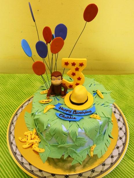 Curious George Third Birthday Cake