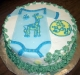Giraffe Baby Onesie Cake