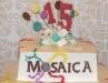 Mosaica 15th Anniversary Cake