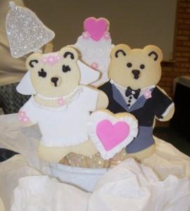 Wedding Bears Cookie Boquet